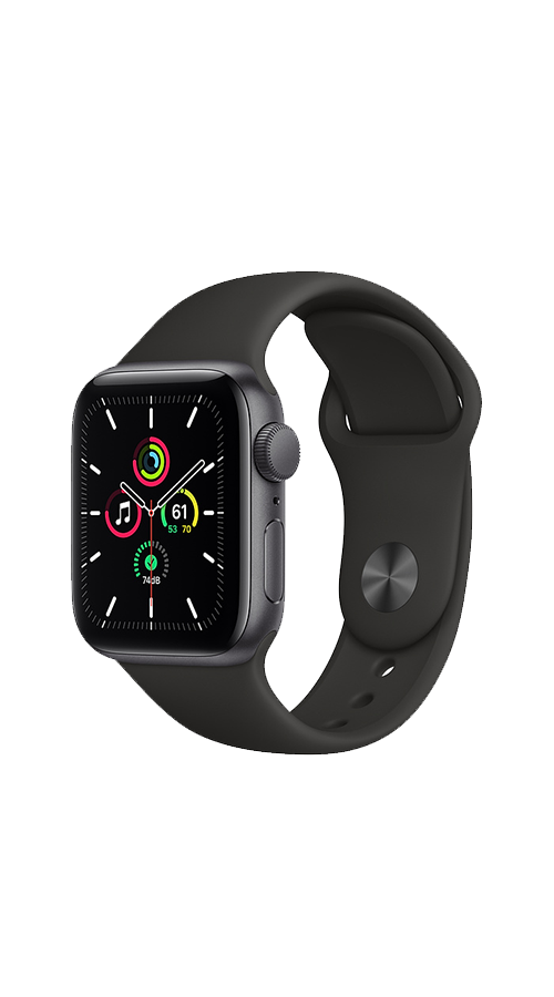 GPS - 40mm -   Space Gray Aluminum/Black Sport Band