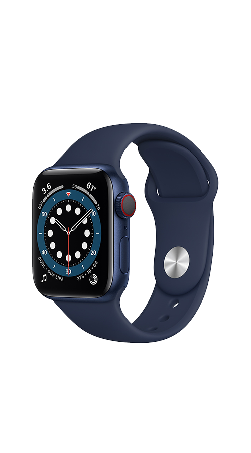 Cellular - 40mm - Blue Aluminum/Deep Navy Sport Band