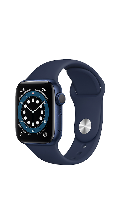 GPS - 40mm - Blue Aluminum/Deep Navy Sport Band
