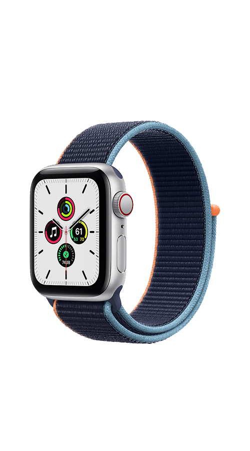 Cellular - 40mm - Silver Aluminium/Deep Navy Sport Loop