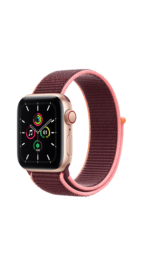 Cellular - 40mm - Gold Aluminium/Plum Sport Loop
