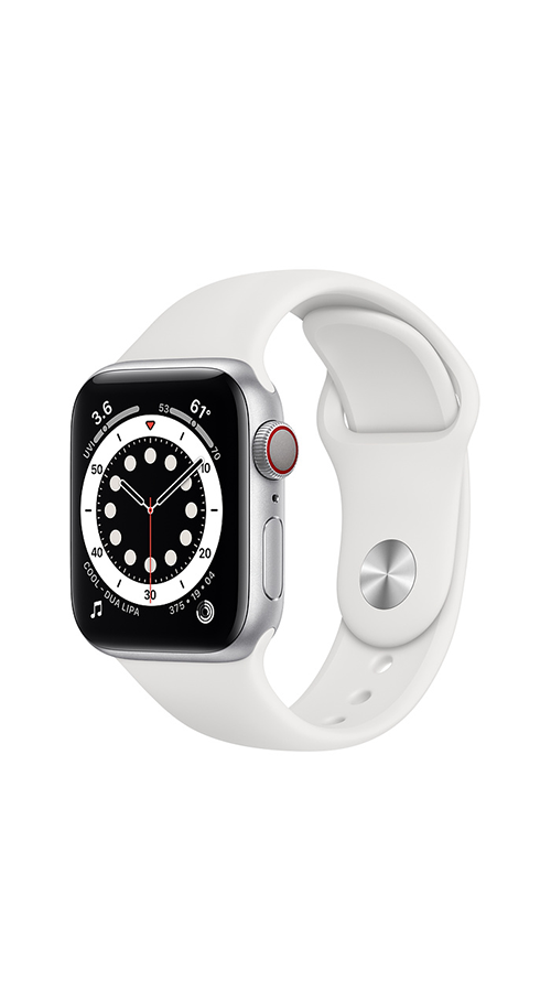Cellular - 40mm - Sliver Aluminum/White Sport Band