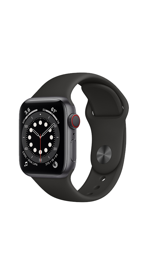 Cellular - 40mm - Space Gray Aluminum/Black Sport Band